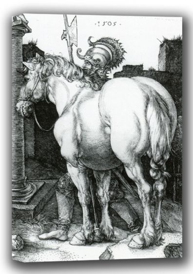 Durer, Albrecht: The Large Horse. Fine Art Canvas. Sizes: A4/A3/A2/A1 (001920)